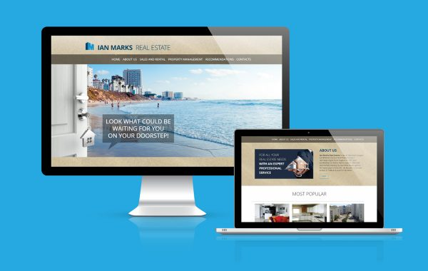 Responsive web design concept in laptop tablet computer smartpho